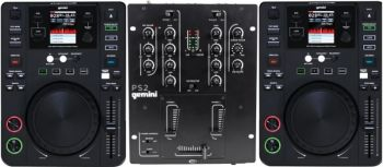 KIT DJ Gemini - CDJs 650 USB MIDI com Mixer PS2