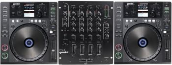 KIT DJ Gemini - CDJs 700 USB MIDI com Mixer PS4