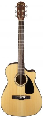 Fender CF60 CE Folk Natural With Case