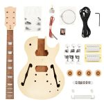 Kit de guitarra desmontada Les Paul Semi Acústica HH Mogno Maple SNGK014