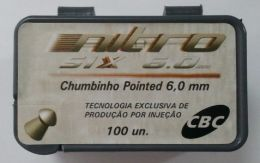 Chumbinho CBC 6.0 mm Pointed Nitro Six