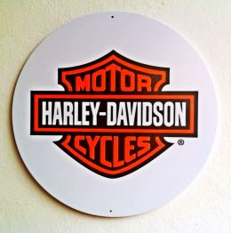 Placa Decorativa Harley Emblema - PS