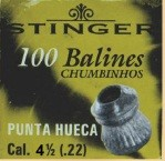 Chumbinho Stinger Hollow Point 5,5mm - Caixa com 100 unidades