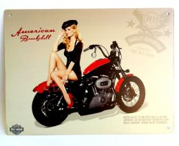 Placa Harley Pin Up - Pequena
