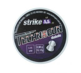Chumbinho Technogun Strike Diabolo 5.5mm - 125 Unidades
