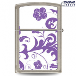 Isqueiro Star Lighters - Modelo Flor Roxa