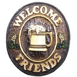 Placa Welcome Friends Chopp