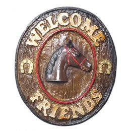Placa Welcome Friends Country