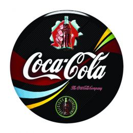 Placa Decorativa Coca Cola Black R - PS