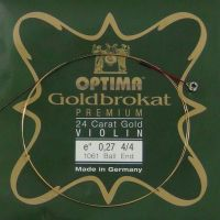 Corda Avulsa Mi Violino 4/4 – Optima Goldbrokat  Premium 24K GOLD - Ball End - Forte