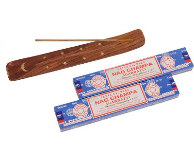 Incenso Nag Champa e Incensário