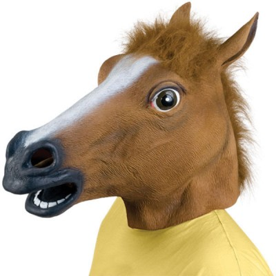 Mascara de Cavalo Cosplay - Latex