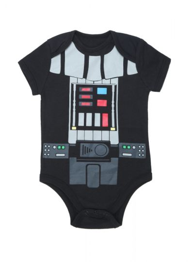 Body Bebê Darth Vader Star Wars Preto | Exclusividade Multifantasias