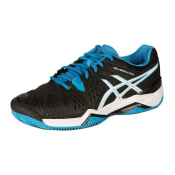 Tenis Asics Gel Resolution 6 Clay Black/ Blue Jewel/ White
