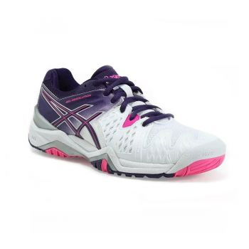Tenis Asics Gel Resolution 6 All Court White/ Parachute Purple/ Hot Pink