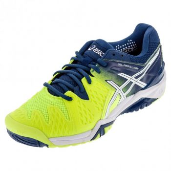 Tenis Asics Gel Resolution 6 All Court safety yellow/white  - foto 4