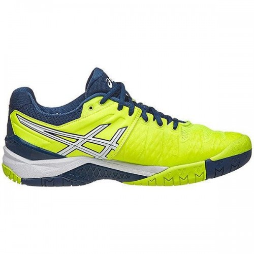 Tenis Asics Gel Resolution 6 All Court safety yellow/white  - foto principal 4