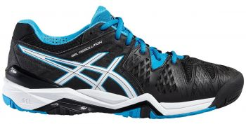 Tenis Asics Gel Resolution 6 All Court Black/ Blue Jewel/ White