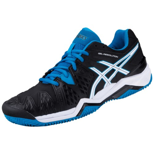 Tenis Asics Gel Resolution 6 All Court Black/ Blue Jewel/ White  - foto principal 4