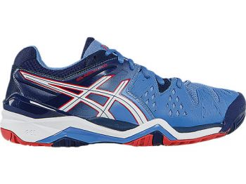 Tenis Asics Gel Resolution 6 Power blue/White/Hibiscus Tamanho 39