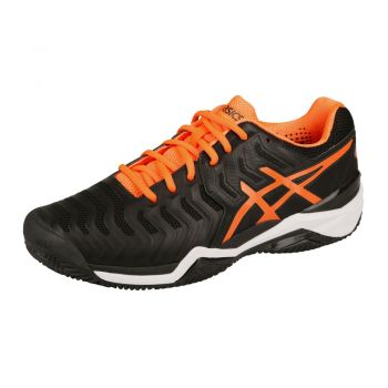 Tenis Asics gel Resolution 7 Clay Black/Orange