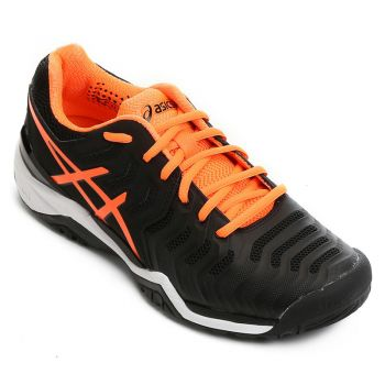 Tênis Asics Gel Resolution 7 - Preto Laranja