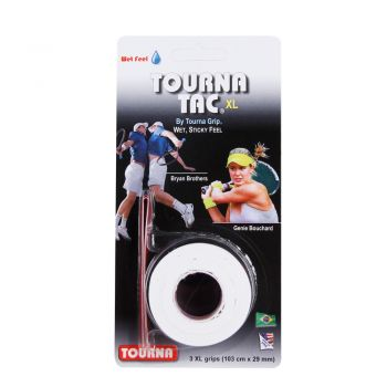 Overgrip Unique Tourna Tac Xl Branco Com 03 Unidades