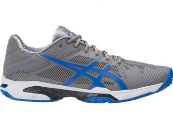 Tênis Asics Gel Solution Speed 3 Cinza/Azul