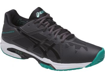 Tênis Asics Gel Solution Speed 3 Dark Grey /  Black / Lapis  - foto 8