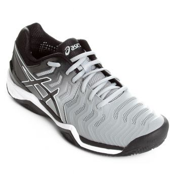 Tênis Asics Gel-Resolution 7 Clay Mid Masculino - Cinza