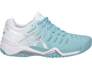 Tênis Asics Gel Resolution 7 Feminino Azul Claro