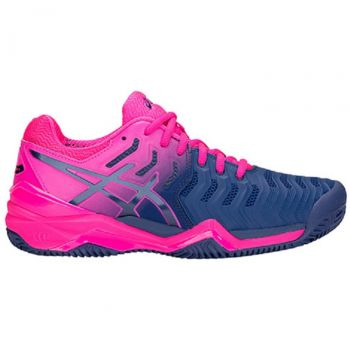 Tênis Asics Gel Resolution 7 Clay - Feminino Azul/Rosa