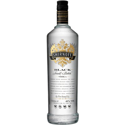Vodka Smirnoff Black - 1000ml