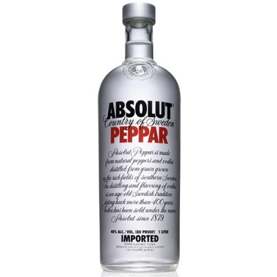 Vodka Absolut Peppar - 1000ml