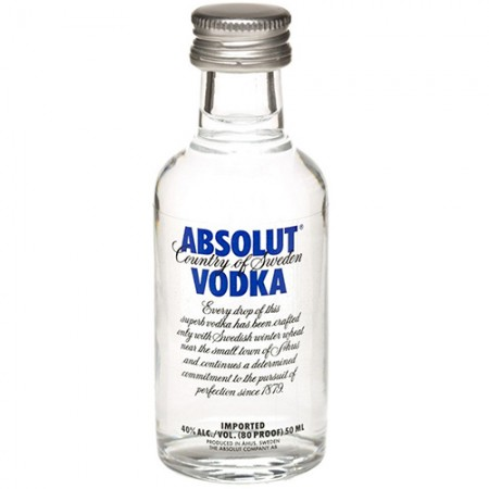 Vodka Absolut Natural - Miniatura - 50ml