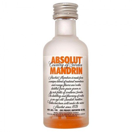Vodka Absolut Mandrin - Miniatura - 50ml