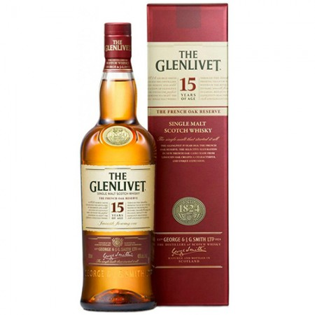 Whisky The Glenlivet Single Malt - 15 Anos - 750ml