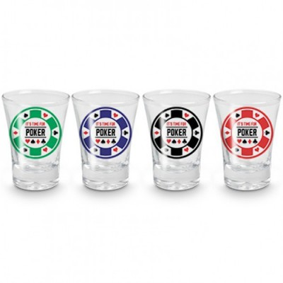 Conjunto Shot Poker Night - 4 x 60ml