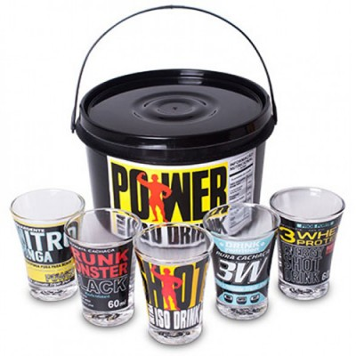 Conjunto Shot Power Suplementos - 5 x 60ml