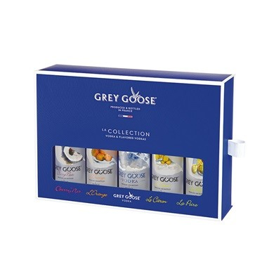 Kit Vodka Grey Goose La Collection - Miniatura - 5 x 50ml