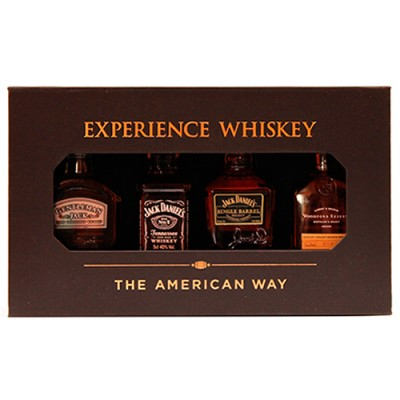 Kit Experiente Whiskey Bourbon - The American Way - Miniatura - 4 x 50ml