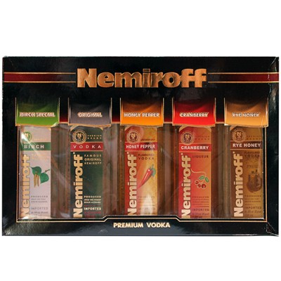 Kit Vodka Nemiroff Collection - Miniatura - 5 x 100ml