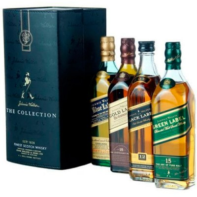 Kit Whisky Johnnie Walker Collection Classic - 4 x 200ml