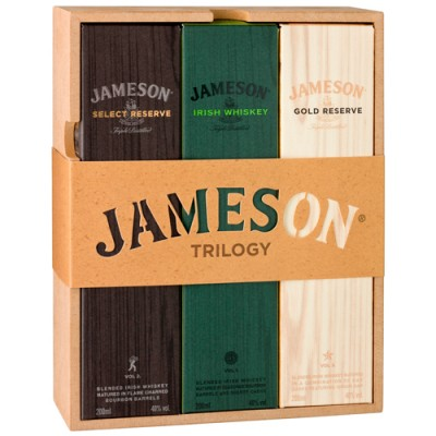 Kit Whisky Jameson - Irish Whiskey Trilogy - 3 x 200ml