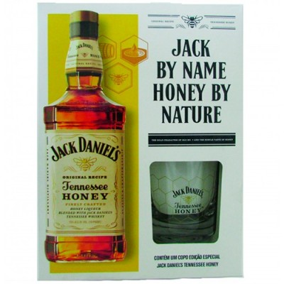 Licor de Whisky Jack Daniels Honey com Copo Exclusivo - 1000ml