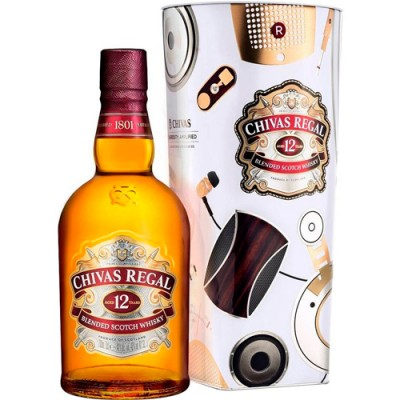 Whisky Chivas Regal com Lata LSTN Exclusiva - 12 Anos - 1000ml