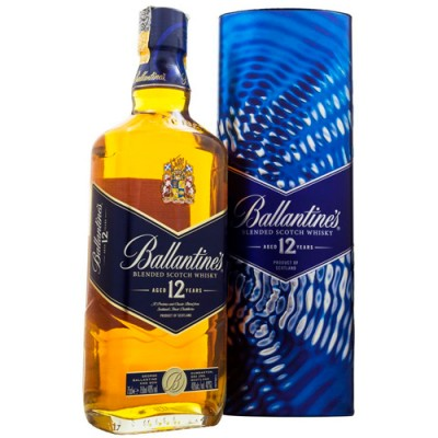 Whisky Ballantines com Lata Exclusiva - 12 Anos - 750ml