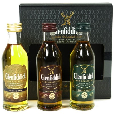 Kit Whisky Glenfiddich Cask Collection - 3 x 50ml