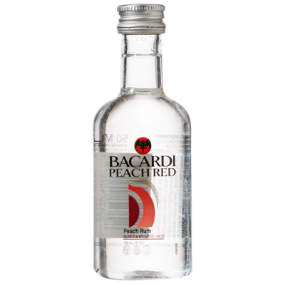 Rum Bacardi Peach Red - Miniatura - 50ml