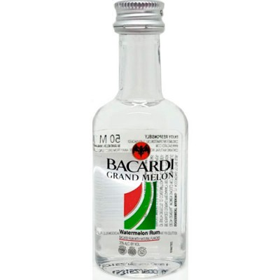 Rum Bacardi Grand Melon - Miniatura - 50ml